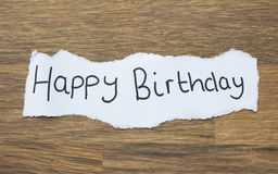 Written Happy Birthday Stock Images