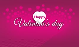 Written Happy Valentine's Day on a pink patterned Stock Image