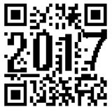 2017 written inside a QR code. Shopping concept Stock Images