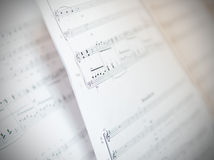 Written Music Notation Sheet Stock Image