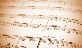 Written Music Sheet Royalty Free Stock Photo