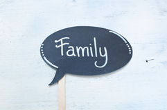 Written nice usable during the holidays:family Stock Photo