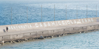 Written on the platform of casamicciola spa Royalty Free Stock Images