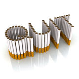 Written quit made with cigarettes Royalty Free Stock Image