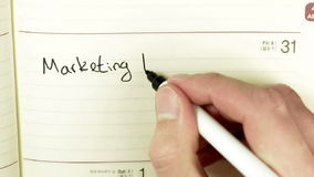 Written record about Marketing meeting stock footage