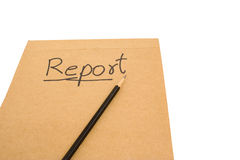 A written report. Royalty Free Stock Photos