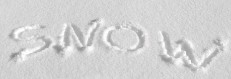 Written in the snow Stock Photos