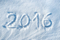 2016 written in snow #2 Stock Images