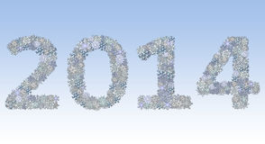 2014 written with snowflakes Stock Image