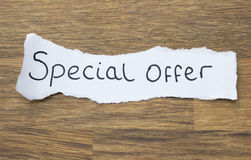 Written Special Offer Royalty Free Stock Photos