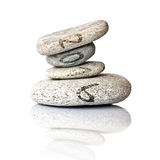 2016 written on stack of pebbles isolated on white Stock Photos