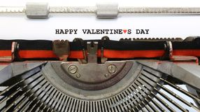 Written typewriter Happy Valentines Day Stock Photos