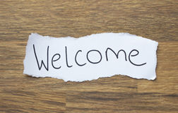 Written Welcome Royalty Free Stock Photography