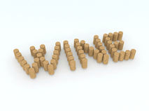 Written wine with corks Stock Photo