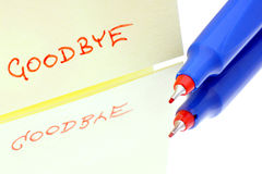 Written wink goodbye. Royalty Free Stock Image