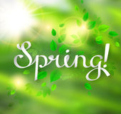 Written word Spring Royalty Free Stock Photos