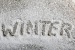 Written the word winter Stock Images