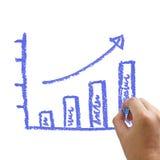 Writting graph Stock Photos