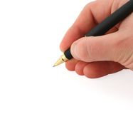 Writting hand Stock Images