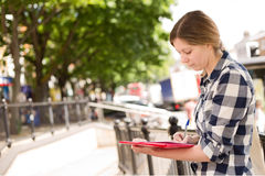 Writting in the street Stock Images