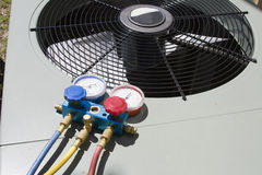 Wärmepumpepflege Stockbilder