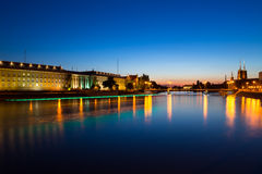 Wroc�aw at Night Stock Photo