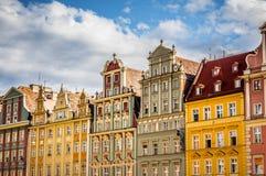 Wrocław Oude Stad Stock Afbeeldingen