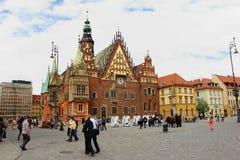 Wrocław - rynek wraz z ratuszem Stock Photo