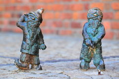 Wroc�aw's dwarfs Stock Photo