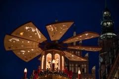 Wrocławski bożych narodzeń evening Zdjęcia Royalty Free