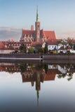 Wrocławski, Polska 22nd 2016 Październik Kościół święty krzyża St Fotografia Royalty Free