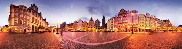 Wrocławski przy półmrokiem po zmierzchu Fotografia Royalty Free