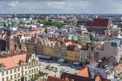 WROCŁAWSKI, POLSKA, LIPIEC - 07, 2016: Scenicznego lata powietrzna panorama o Fotografia Stock
