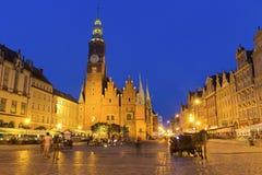 Wrocław main Market Square Stock Photo