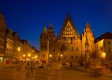 Wroclaw,波兰城镇厅  免版税库存图片