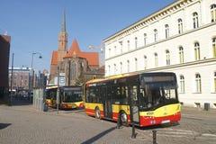 Wroclaw μια πόλη bas της πλατείας Dominikanski Στοκ Εικόνες