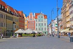 WROCLAW, ΠΟΛΩΝΙΑ - 12 09 2016: Παλαιά πόλη, τετράγωνο αγοράς στην Πολωνία στην Ευρώπη Στοκ Εικόνες