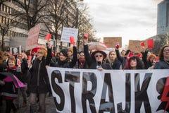 Wroclaw, Πολωνία, 2017 08 03 - διαμαρτυρία των γυναικών Στοκ Εικόνα