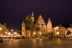 wroclaw городка залы стоковое фото rf