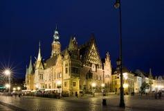 wroclaw городка залы Стоковое Изображение