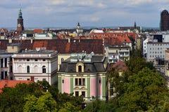 Wroclaw - панорама Стоковая Фотография