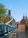wroclaw Польши любовников соборов моста Стоковое Изображение