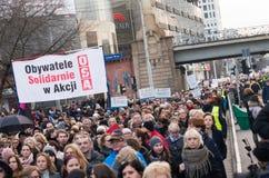 Wroclaw, Польша, 2017 08 03 - протест женщин Стоковая Фотография