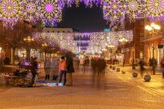 wroclaw 主要市场正方形在晚上 免版税库存图片