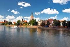都市风景wroclaw 库存照片