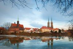 城市老wroclaw 免版税图库摄影