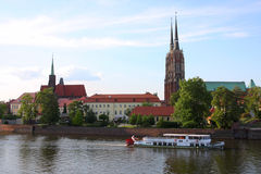 Wroclaw. View on a  town Royalty Free Stock Image