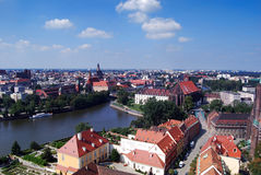 Wroclaw. Wide view on Wroclaw (Poland Royalty Free Stock Photos