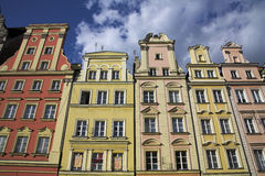 Wroclaw. Historical buildings in olt town square in wroclaw Stock Photos