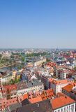 Wroclaw from above Royalty Free Stock Images